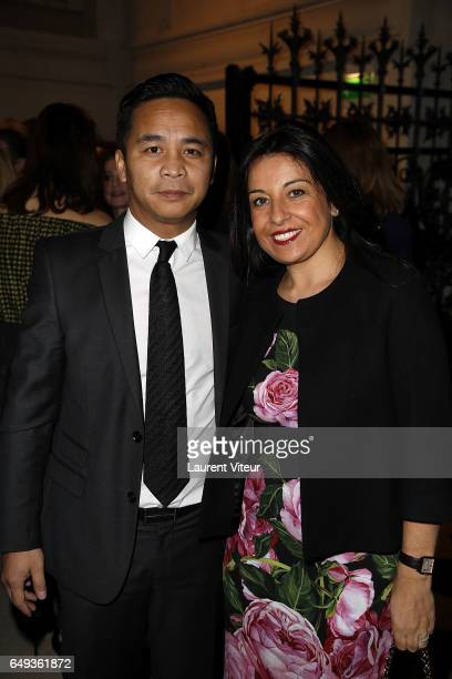 Prince and Princess Ravichack Norodom of Cambodge attend Dessiner L'Or et L'Argent Odiot Orfevre Exhibition Launch at Musee Des Arts Decoratifs on...