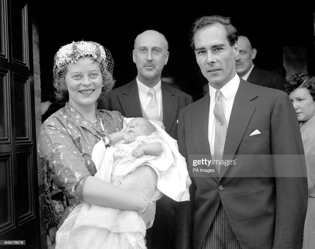 Royalty - Prince and Princess Tomislav of Yugoslavia at the christening of their son Nikola - Serbian Church - London : News Photo