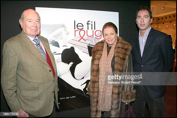 Prince and Princesse Alexandre De Yougoslavie and their son Prince Dushan at Final Evening Of Des Encheres Silencieuses Des Photographies Issues Du...