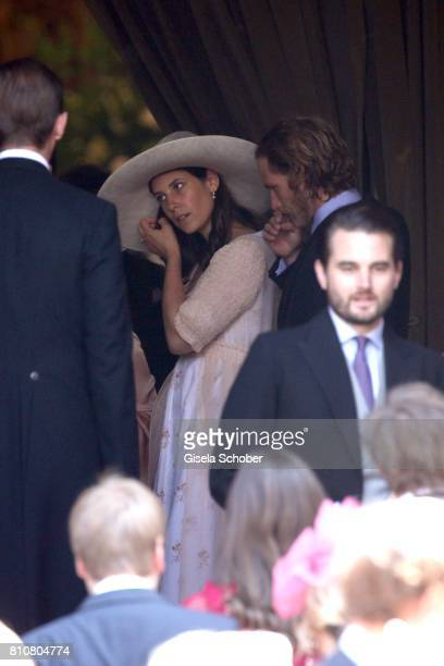 Prince Andrea Casiraghi and his wife Tatiana Santo Domingo during the wedding of Prince Ernst August of Hanover jr Duke of BrunswickLueneburg and his...