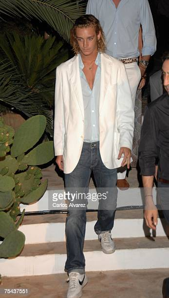 Prince Andrea Casiraghi arrive to the Mango Party on July 16 2007 at Atzaro Hotel in Ibiza Spain