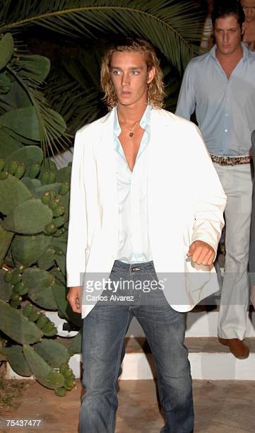 Prince Andrea Casiraghi arrives to the Mango Party on July 16 2007 at Atzaro Hotel in Ibiza Spain