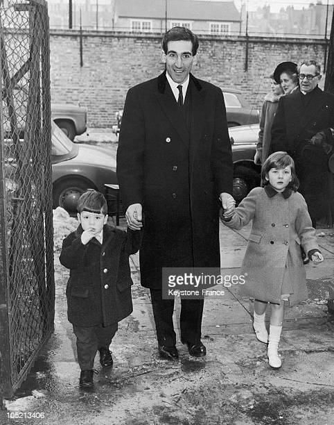 Prince Andrej Of Yugoslavia The Youngest Son Of Yugoslavian King Alexander 1St His Son Christopher And Tatiana Of Yugoslavia Arriving At The Serbian...