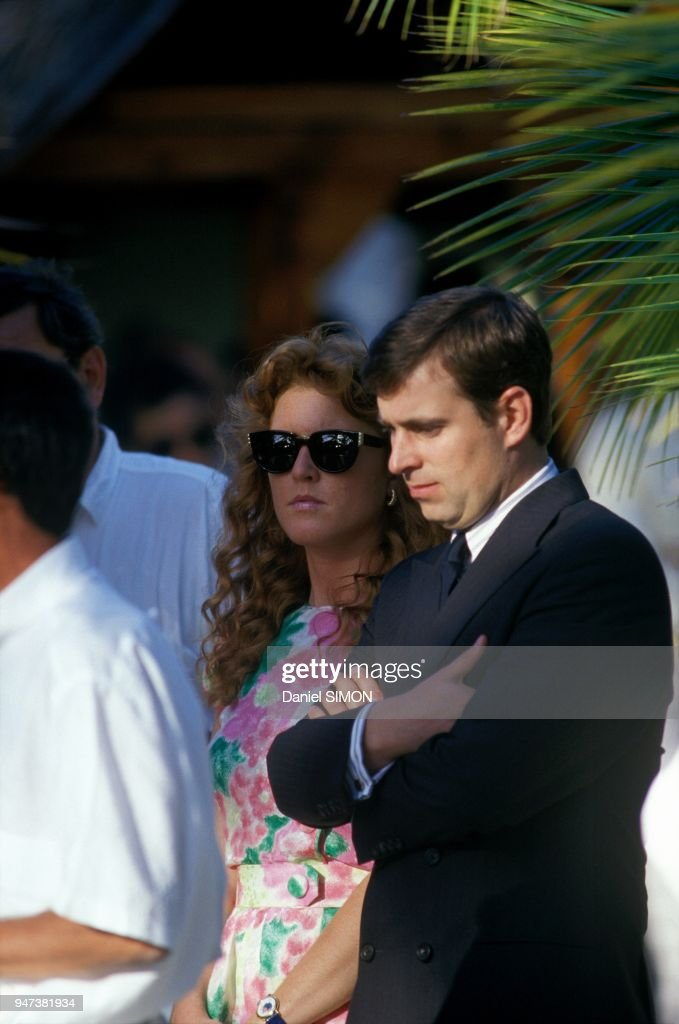 Prince Andrew And Wife Sarah Ferguson In Mauritius September 1987
