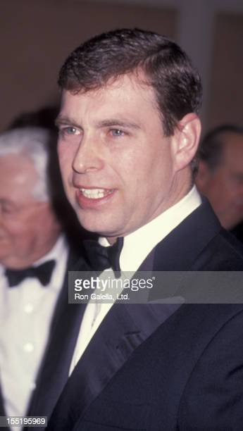 Prince Andrew, Duke of York attends American Air Museum Great Britian Fundraising Gala on April 7, 1994 at the Regent Beverly Wilshire Hotel in...