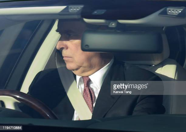 Prince Andrew Duke of York attends Christmas Lunch at Buckingham Palace on December 18 2019 in London England