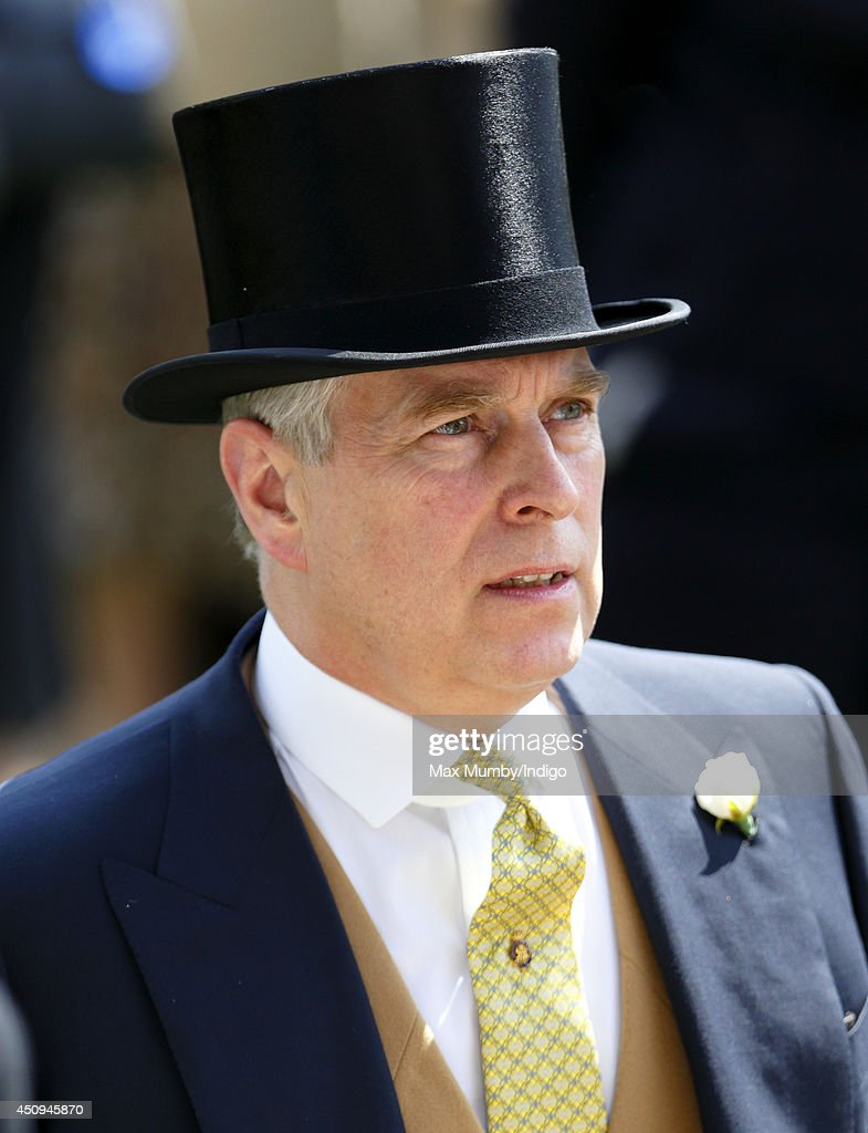Prince Andrew, Duke of York attends Day 4 of Royal Ascot at Ascot Racecourse on June 20, 2014 in Ascot, England.