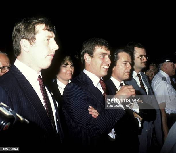 Prince Andrew, Duke of York attends Gala Honoring Prince Andrew, Duke of York on April 16, 1984 aboard the Spruce Goose in Long Beach, California.