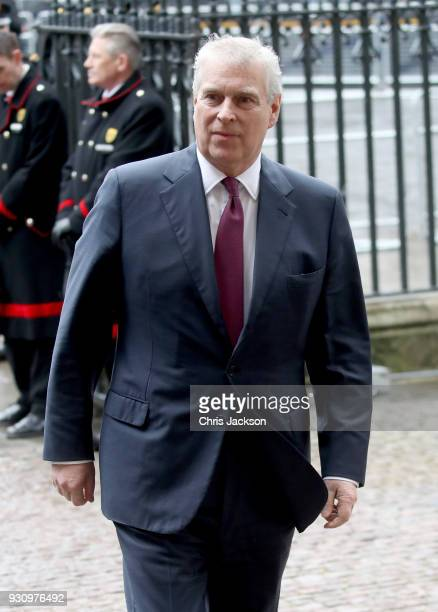 Prince Andrew Duke of York attends the 2018 Commonwealth Day service at Westminster Abbey on March 12 2018 in London England