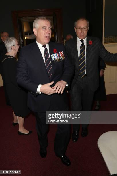 Prince Andrew Duke of York    attends the annual Royal British Legion Festival of Remembrance at the Royal Albert Hall on November 09 2019 in London...