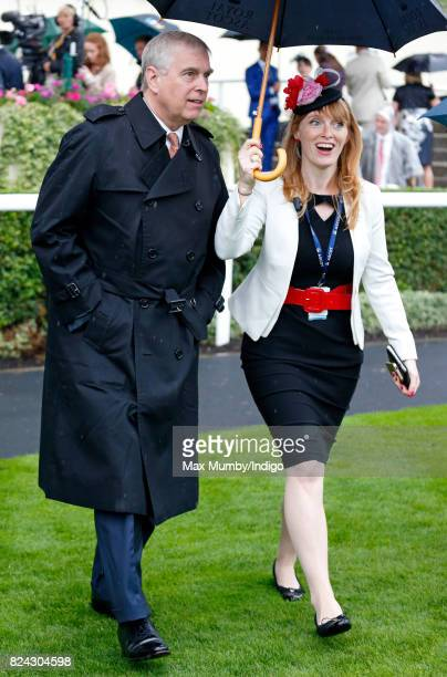 Prince Andrew Duke of York attends the King George VI racing meet at Ascot Racecourse on July 29 2017 in Ascot England