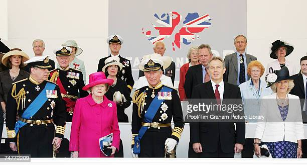 Prince Andrew Duke of York Baroness Margaret Thatcher Prince Charles Prince of Wales Prime Minister Tony Blair and Camilla Duchess of Cornwall attend...