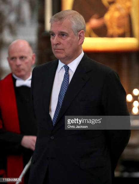 Prince Andrew Duke of York during the visit of US President Donald Trump to Westminster Abbey on June 03 2019 in London England President Trump's...