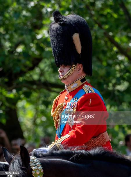 Prince Andrew Duke of York during Trooping The Colour 2018 on June 9 2018 in London England