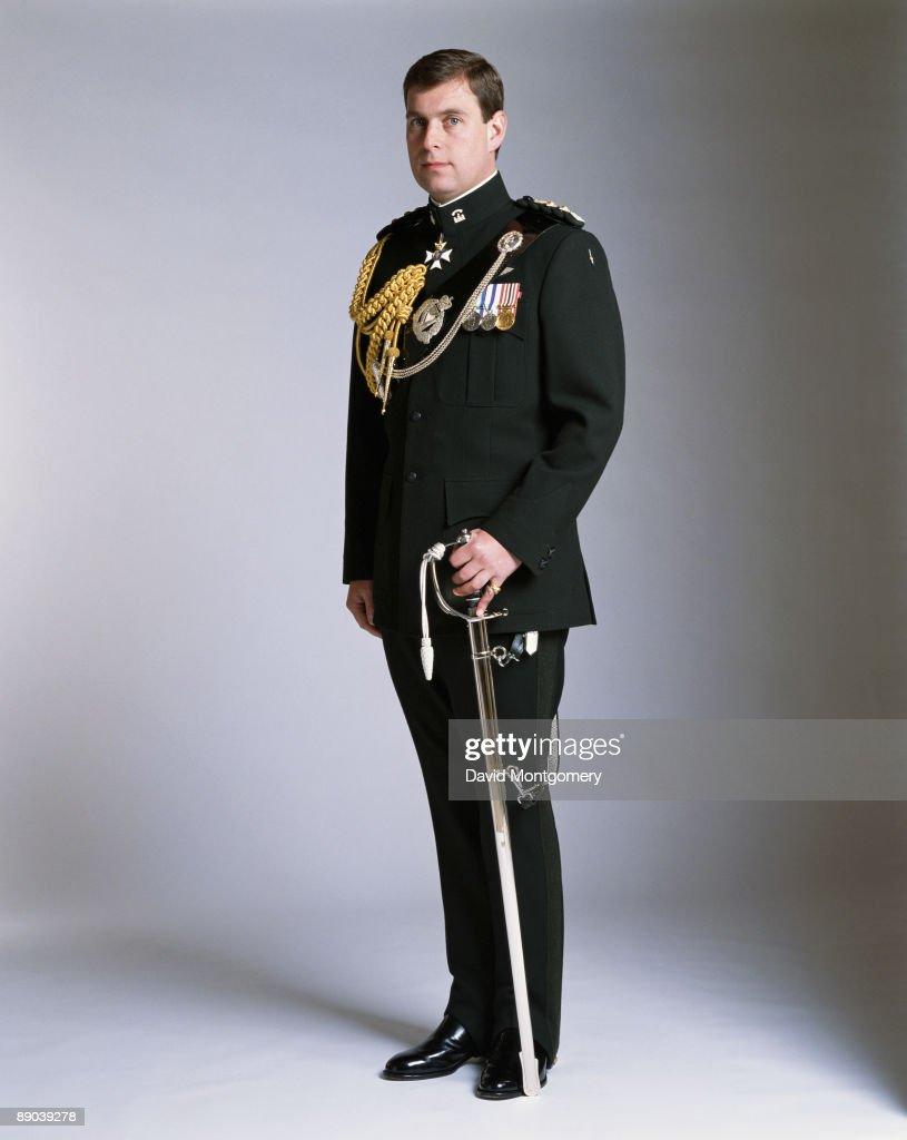 Prince Andrew, Duke of York, in military uniform, circa 1995.