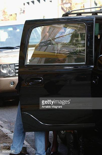 Prince Andrew, Duke of York, is seen alongside his ex-wife Sarah Ferguson and an unidentified woman outside of Cipriani's Restaurant on October 6,...