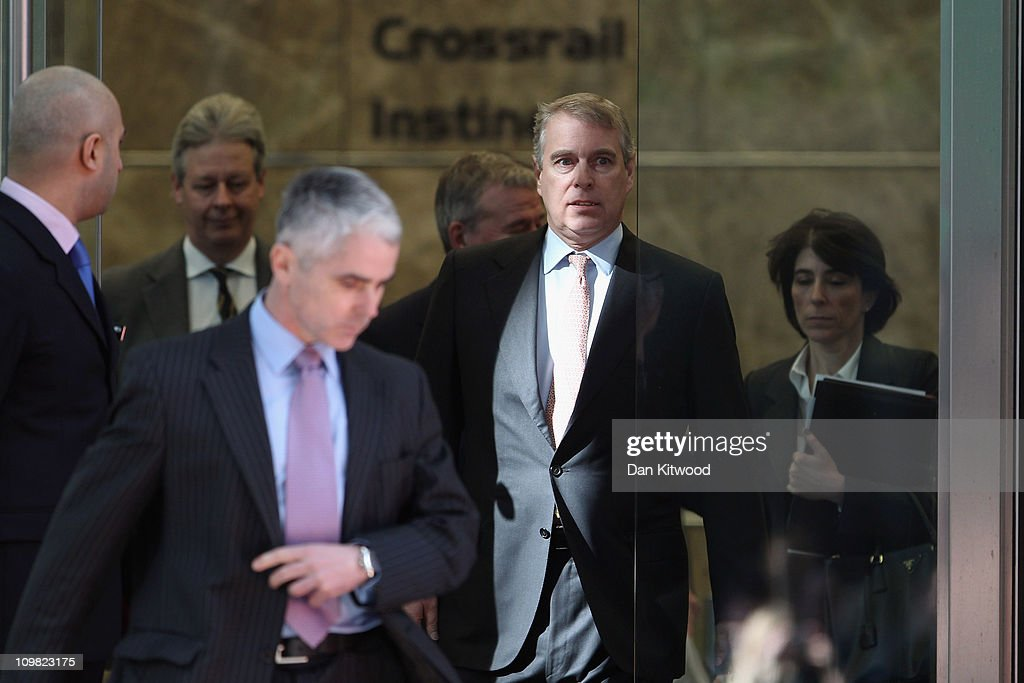 The Duke Of York, The UK's Special Representative For International Trade and Investment Visits Crossrail : News Photo