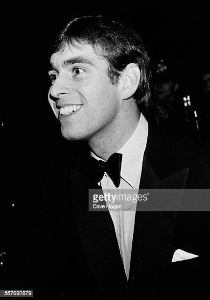 Prince Andrew Duke of York leaving Tramp nightclub in London February 10th 1983