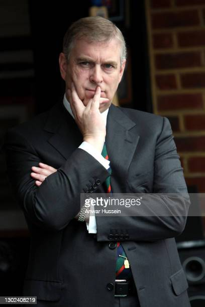 Prince Andrew, Duke of York looks thoughtful as he attends the launch of the On Course charity for injured servicemen and women at the Royal...