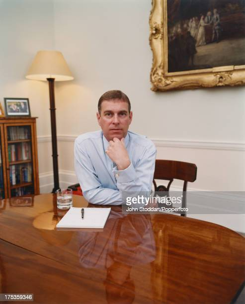 Prince Andrew Duke of York posed in 2000