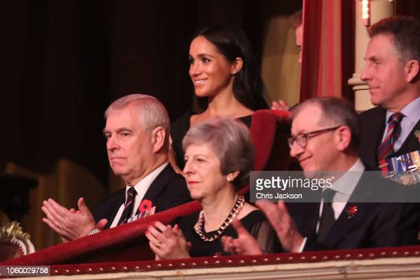 LONDON ENGLAND NOVEMBER Prince Andrew Duke of York Prime Minister Theresa May with husband Philip May Meghan Duchess of Sussex and Prince Harry Duke...