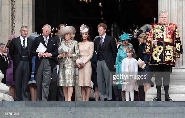 Prince Andrew Duke of York Prince Charles Prince of Wales Camilla Duchess of Cornwall Catherine Duchess of Cambridge and Prince Harry and Princess...