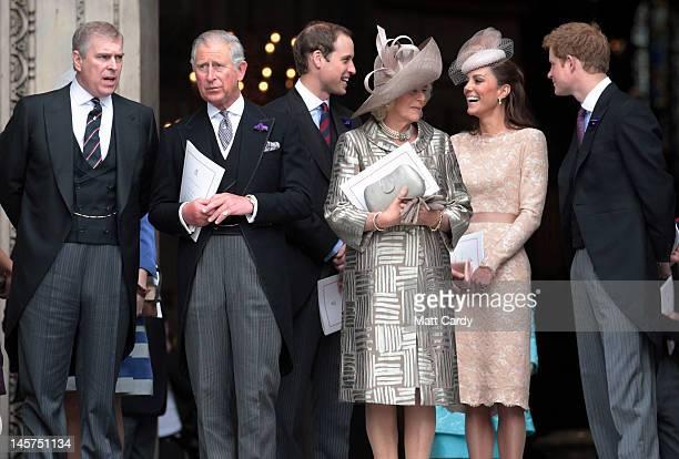 Prince Andrew, Duke of York, Prince Charles, Prince of Wales, Prince William, Duke of Cambridge, Camilla, Duchess of Cornwall, Catherine, Duchess of...