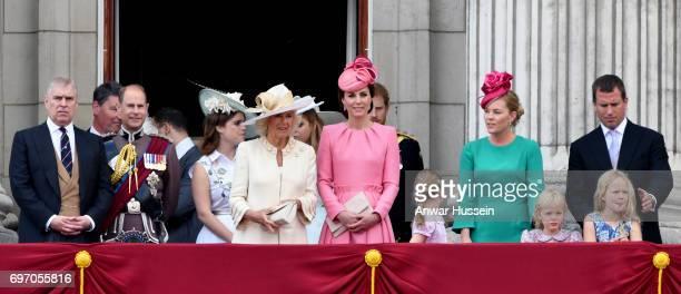 Prince Andrew Duke of York Prince Edward Earl of Wessex Princess Eugenie Camilla Duchess of Cornwall Catherine Duchess of Cambridge Isla Phillips...
