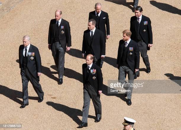 Prince Andrew, Duke of York, Prince William, Duke of Cambridge, Prince Edward, Earl of Wessex, Peter Phillips, Earl of Snowdon David Armstrong-Jones,...