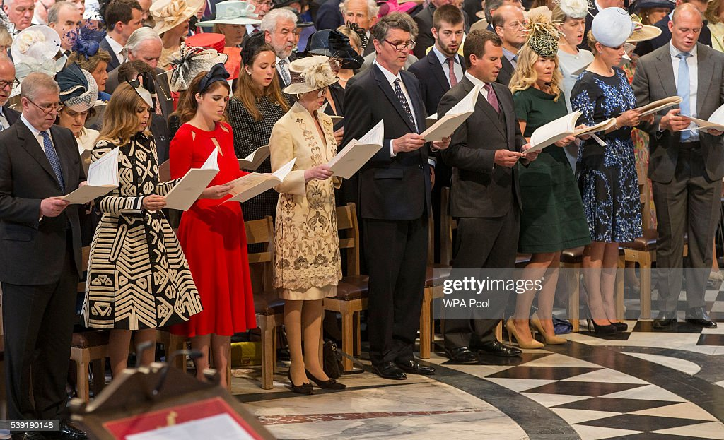 National Service Of Thanksgiving To Celebrate The Queen's 90th Birthday : News Photo