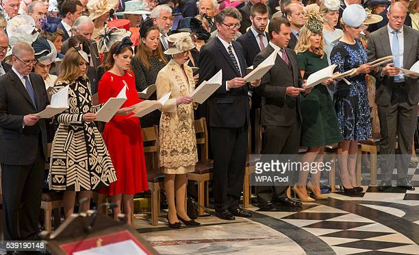 Prince Andrew Duke of York Princess Beatrice Princess Eugenie Princess Anne Princess Royal Sir Timothy Lawrence Peter Phillips Autumn Phillips Zara...