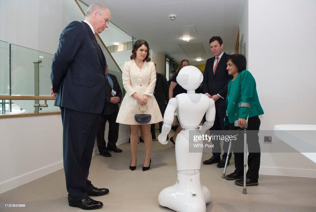 The Duke of York Visits The Royal National Orthopaedic Hospital : News Photo