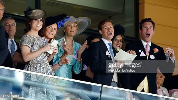 Prince Andrew Duke of York Princess Eugenie Sarah Ferguson Duchess of York Catrina Skepper Countess GuerriniMaraldi Dave Clark Princess Beatrice and...