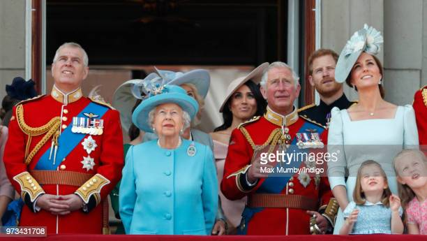 Prince Andrew, Duke of York, Queen Elizabeth II, Meghan, Duchess of Sussex, Prince Charles, Prince of Wales, Prince Harry, Duke of Sussex, Catherine,...