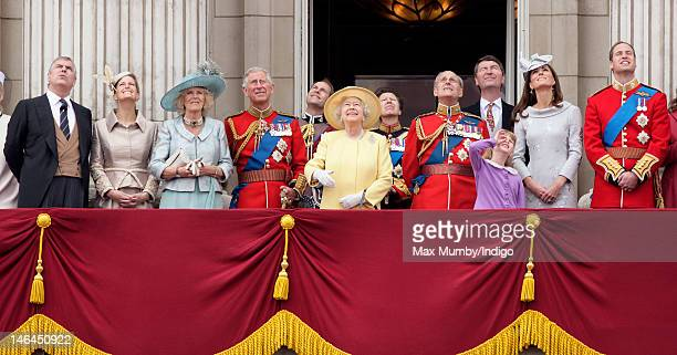Prince Andrew Duke of York Sophie Countess of Wessex Camilla Duchess of Cornwall Prince Charles Prince of Wales Prince Edward Earl of Wessex Queen...