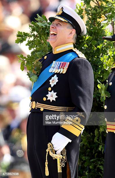 Prince Andrew Duke of York takes the salute during the annual Founder's Day Parade at the Royal Hospital Chelsea on June 4 2015 in London England