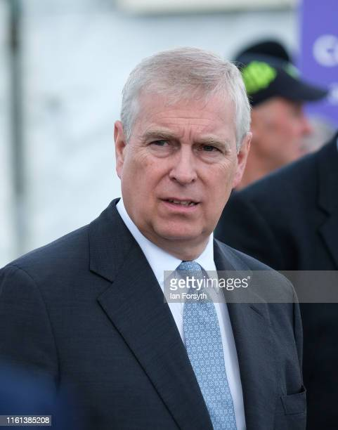 Prince Andrew Duke of York visits the Showground on the final day of the 161st Great Yorkshire Show on July 11 2019 in Harrogate England Organiser's...
