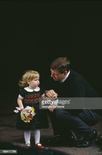 Prince Andrew Duke of York with his daughter Princess Beatrice of York circa 1990