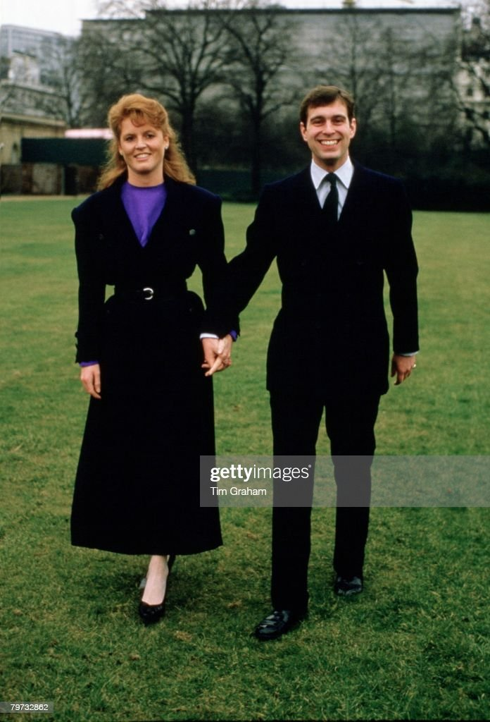 Prince Andrew, Duke of York with Sarah Ferguson after their : News Photo