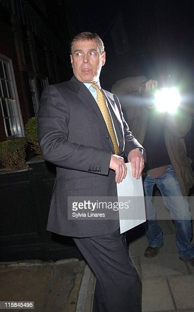 Prince Andrew during Prince Andrew Sighting at Harry's Bar March 27 2007 in London Great Britain