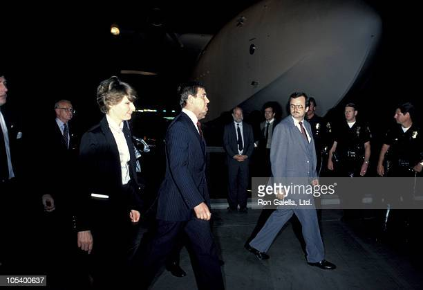 Prince Andrew during Prince Andrew Visits the Spruce Goose in Long Beach California United States