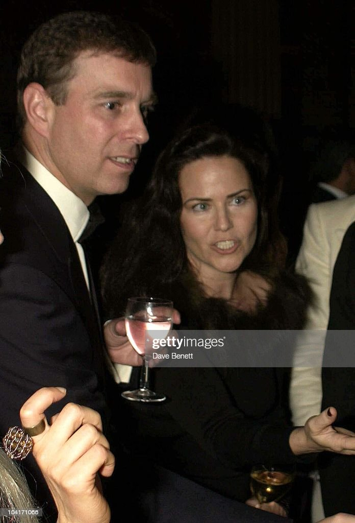 Prince Andrew & Koo Stark, Hong Kong Fanancier Andy Wong And His Wife Pattie Throw Their Annual Chinese New Year Party. In Fancy Dress The Dress Code Was Mystery Vamp And Seduction And Most Of Londons Society Turned Up To A Mysterious Event In The Same Theme As 'Eyes Wide Shut' With Masked Young Women With Very Little On, As Prince Andrew Found Out.!