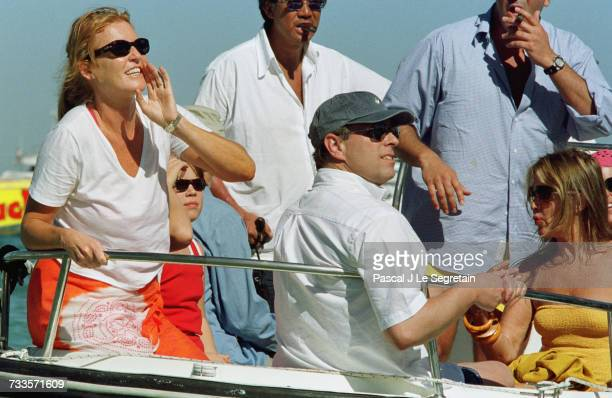 Prince Andrew Sarah Ferguson and their daughters Eugenie and Beatrice during a sea outing