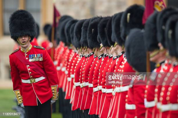 Prince Andrew the Duke of York attends a parade by the Grenadier Guards at Windsor Castle on March 22 2019 in Windsor England