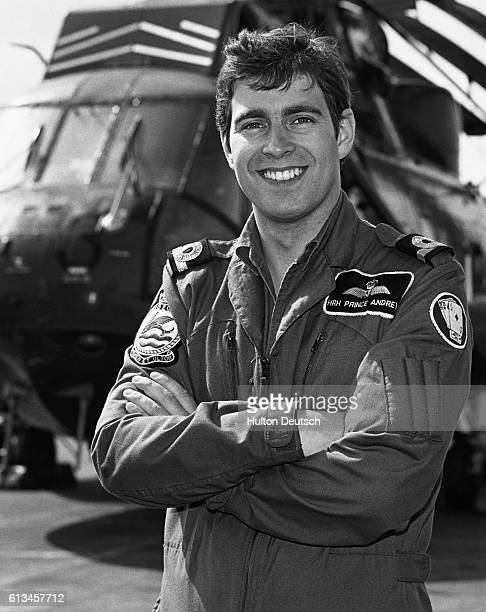 Prince Andrew the Duke of York on board HMS Invincible during the Falklands War in which he served as a helicopter pilot