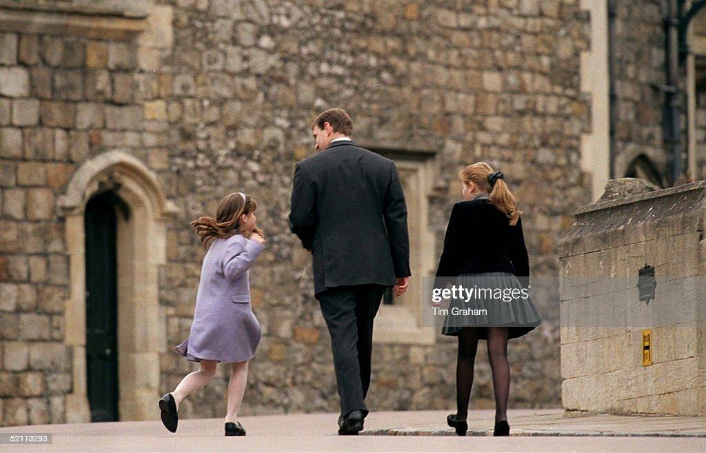 Andrew, Beatrice And Eugenie : News Photo