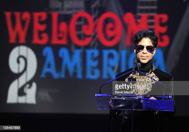 """Prince announces """"Welcome 2 America"""" Tour at The Apollo Theater on October 14, 2010 in New York City."""
