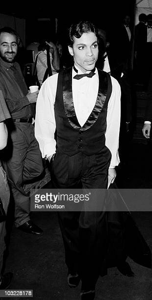 Prince Arriving at the American Music Awards performing on the TV Show 'Solid Gold' in 1983