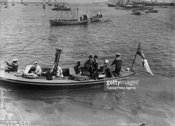 Prince Arthur Duke of Connaught and Strathearn arrives at Kingstown later Dun Laoghaire near Dublin during a visit to Ireland July 1911