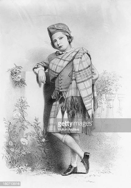 Prince Arthur Duke of Connaught in highland dress 1859 He was the third son of Queen Victoria